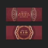 Striscione Red Eid Mubarak