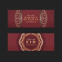 Rote Eid Mubarak-Fahne