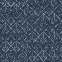 Patrones sin fisuras geométricos blancos establecidos sobre un fondo azul