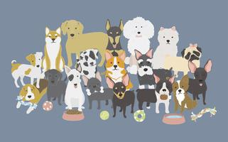 Illustration de la collection de chiens