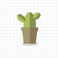 Kaktusväxt i en pottvektor
