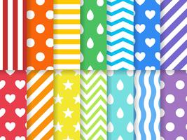 Colorful design patterns set