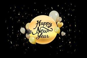 Illustratie van nieuwe jaardecoratie
