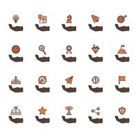Illustration of business achievement icon set vector