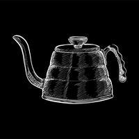 Tappning illustration av en kettle