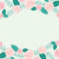 Ilustração de fronteira floral primavera