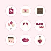 Pastel Valentine's icon set