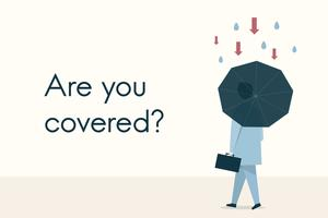 "Illustration of the concept ""Are you covered?"" vector"