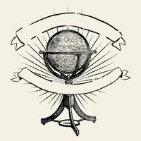 Resa världen illustrationen