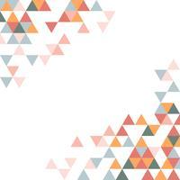 Modèle triangle géométrique coloré
