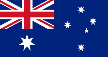 Illustration av Australien flagga