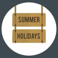Illustrazione del vettore del segno di vacanza estiva