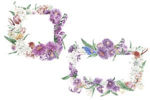 Ornamentos florais vintage