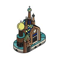 Illustration of Church of the Savior on Blood Russia