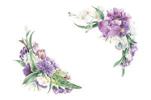 Vintage floral ornaments