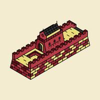 Ilustração da grande muralha da China