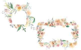Adornos florales de la vendimia