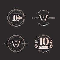 Anniversary badge sets