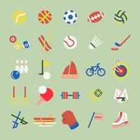 Illustration set of hobbies and sports iconsa