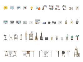 Collection d'objets illustrés