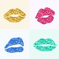 Pinup-Stil Lippendruck