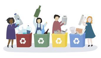 Les étudiants découvrent différentes matières recyclables