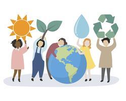 Personas preocupadas por el mundo y el medio ambiente.