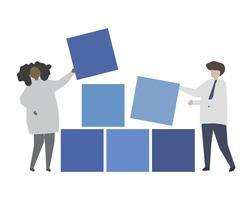 Ilustración de concepto de gestión de datos de negocios