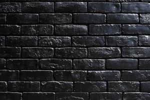 Mur de briques noires avec espace design