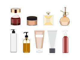 Colección de iconos de productos de cuidado de la piel de las mujeres