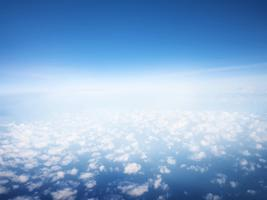 Blue sky with clouds wallpaper