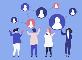 Charaktere von Leuten und von ihrer Abbildung des Sozialen Netzes