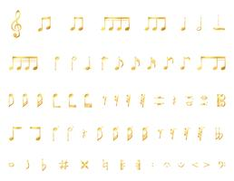 Colección de notas musicales.