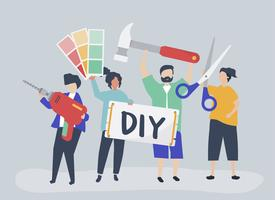 Character illustration of DIY home improvement concept