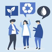 People with environmental conservation ideas