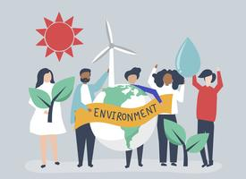People with environmental sustainability concept
