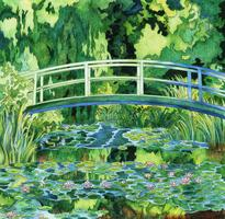 The Water Lily Pond (1899) door Claude Monet: volwassen kleurplaat