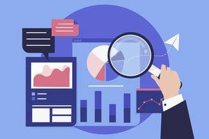 Affärsutvecklingsanalys med diagram