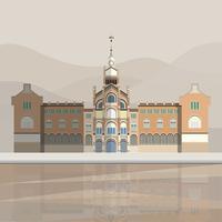 Ilustración del hospital de sant pau.