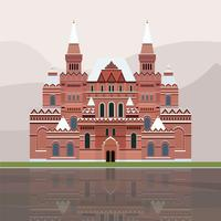 Illustration of The State Historical Museum of Russia vector