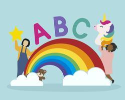 Kinderen zijn speels tijdens het leren
