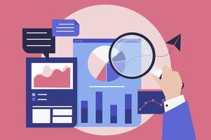 Analyse der Geschäftsleistung mit Diagrammen