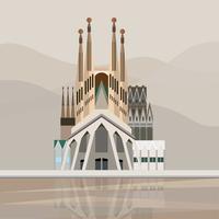 Illustratie van Sagrada Família