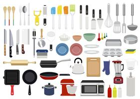 Collection of cooking utensils illustration
