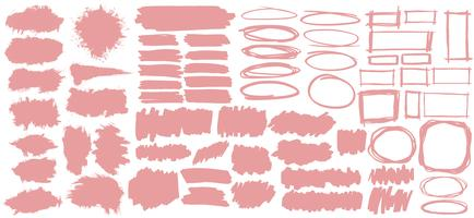 Collection of pastel pink banners illustration
