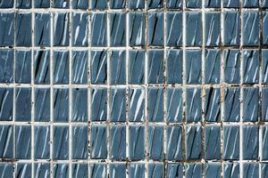 Papier peint texturé tuiles bleues