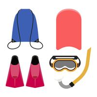 Illustration of a snorkeling equipment