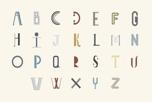 The English alphabet typography illustration