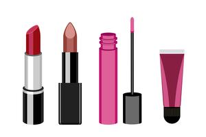 Collection of women lip product icons