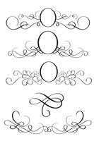 Set of Decorative Frame and Borders Art. Calligraphy lettering Vector illustration EPS10